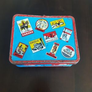 Vintage Travel Themed Lunch Box